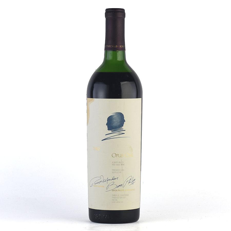 [1982] オーパス・ワン ※液漏れ、ラベル染み汚れ、キャップシール腐食アメリカ / カリフォルニア / 赤ワイン[のこり1本]