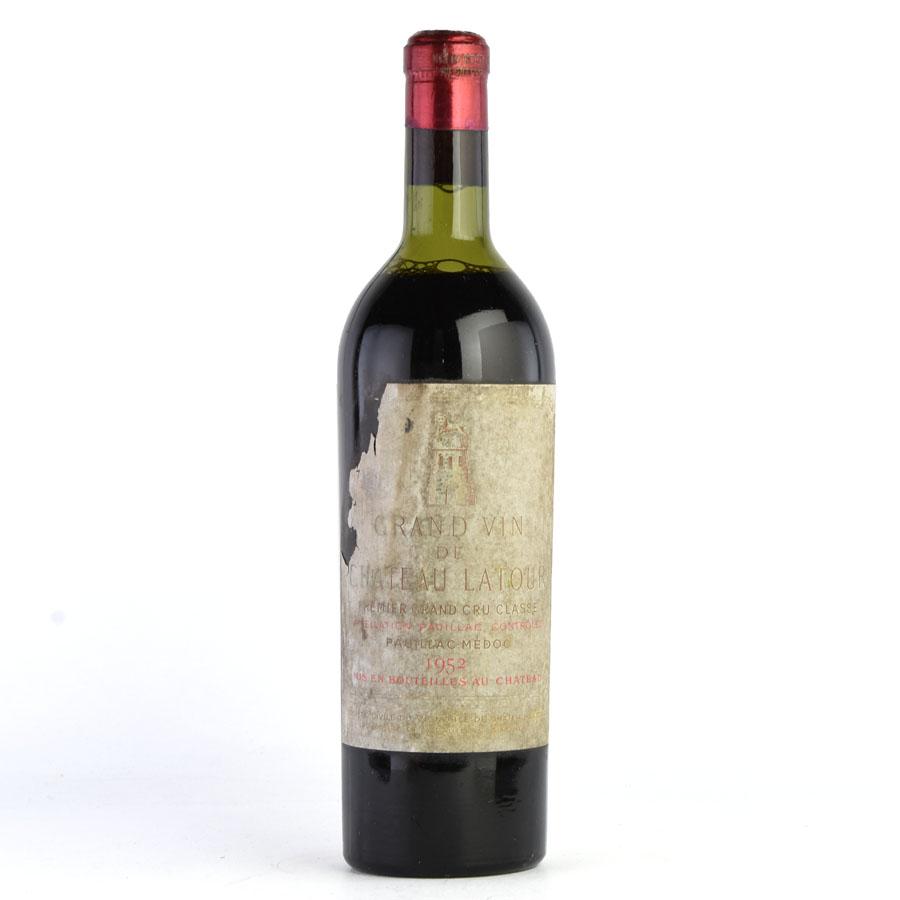 [1952] シャトー・ラトゥール※ラベル不良フランス / ボルドー / 赤ワイン[outlet][のこり1本]