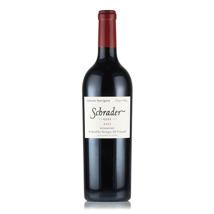 【新入荷★特別価格】[2015] シュレイダーカベルネ・ソーヴィニヨン ベクストファー・ジョルジュ・ザ・サード・ヴィンヤードアメリカ / カリフォルニア / 赤ワイン