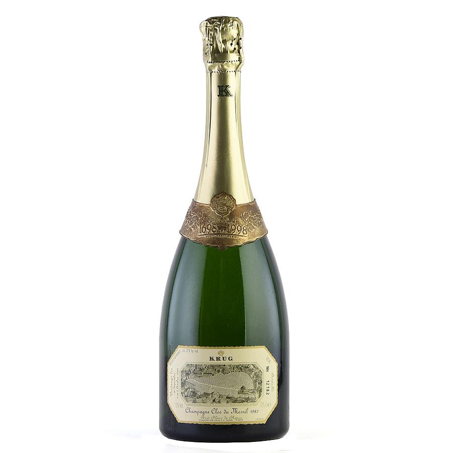 [1983] クリュッグ クロ・デュ・メニルフランス / シャンパーニュ / 発泡・シャンパン[のこり1本]
