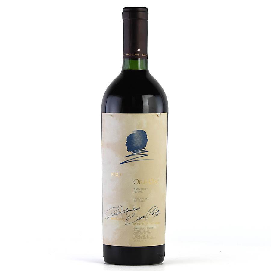 [1990] オーパス・ワン ※ラベル擦れ・汚れありアメリカ / カリフォルニア / 赤ワイン[outlet][のこり1本]