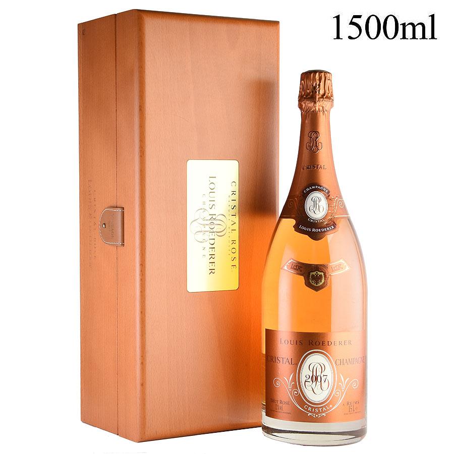 [2007] ルイ・ロデレール クリスタル ロゼ マグナム 1500ml 【木箱入り】フランス / シャンパーニュ / 発泡・シャンパン[のこり1本]