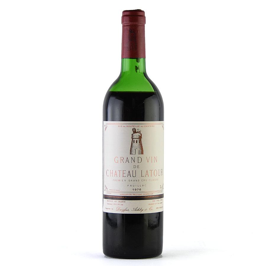 [1976] シャトー・ラトゥール ※液漏れ跡ありフランス / ボルドー / 赤ワイン[outlet][のこり1本]