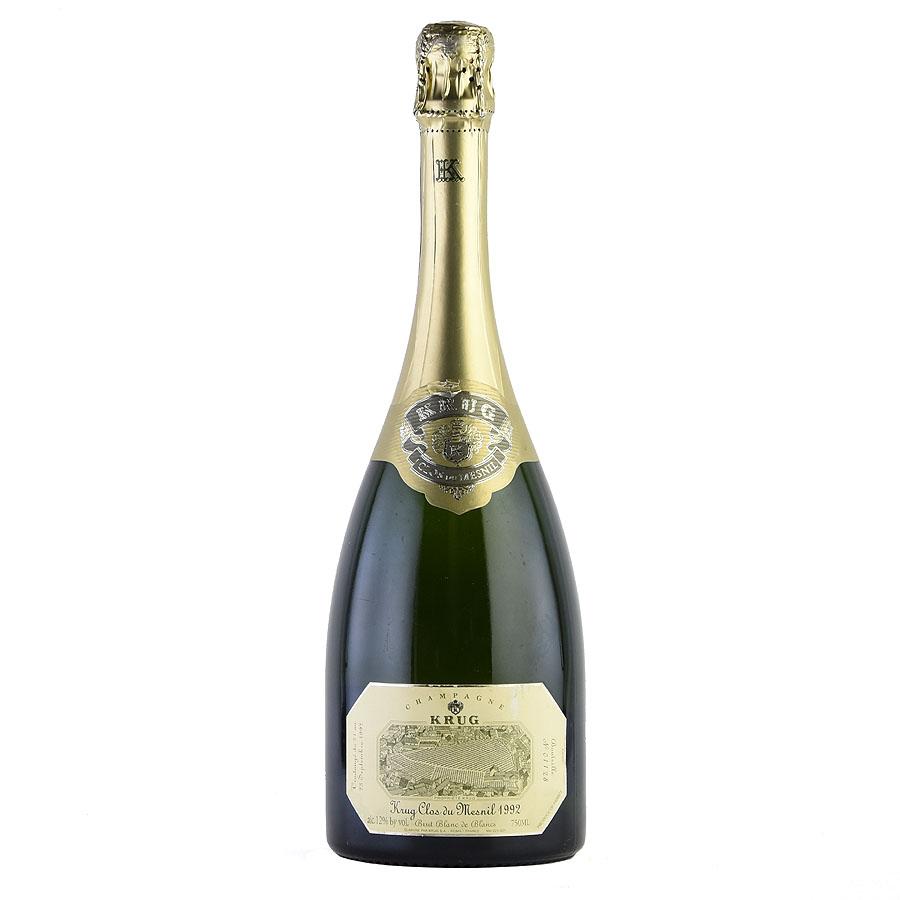 [1992] クリュッグ クロ・デュ・メニル 【箱なし】 ※ラベル擦れ、破れありフランス / シャンパーニュ / 発泡系・シャンパン[outlet]