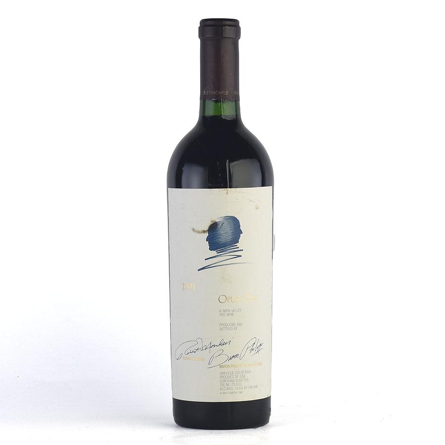 [1991] オーパス・ワン※ラベル不良アメリカ / カリフォルニア / 赤ワイン[outlet][のこり1本]