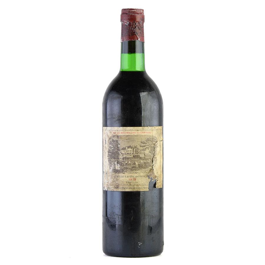 [1978] シャトー・ラフィット・ロートシルト ※ラベル破れ、汚れ、キャップシール腐食ありフランス / ボルドー / 赤ワイン[outlet][のこり1本]