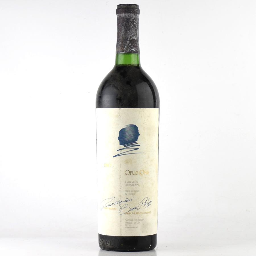 [1980] オーパス・ワン※ラベル不良アメリカ / カリフォルニア / 赤ワイン[outlet][のこり1本]