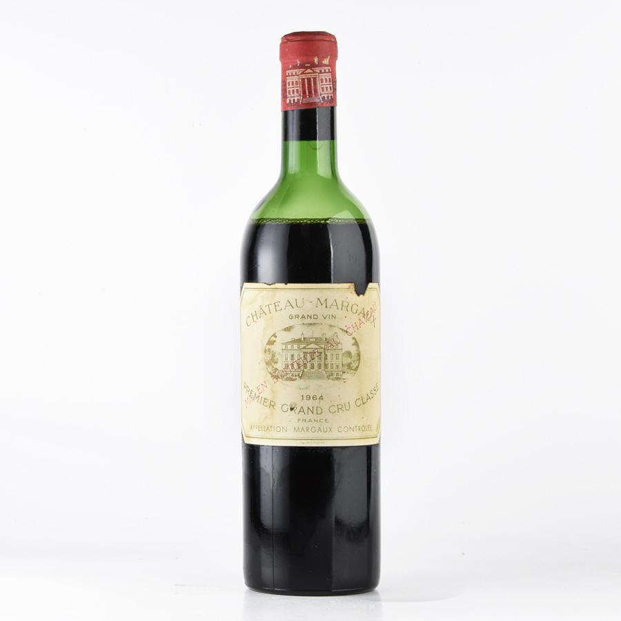 [1964] シャトー・マルゴー※ラベル不良フランス / ボルドー / 赤ワイン[のこり1本]