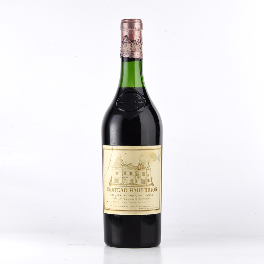 [1964] シャトー・オー・ブリオン※ラベル不良、ヴィンテージ確認不可フランス / ボルドー / 赤ワイン[のこり1本]