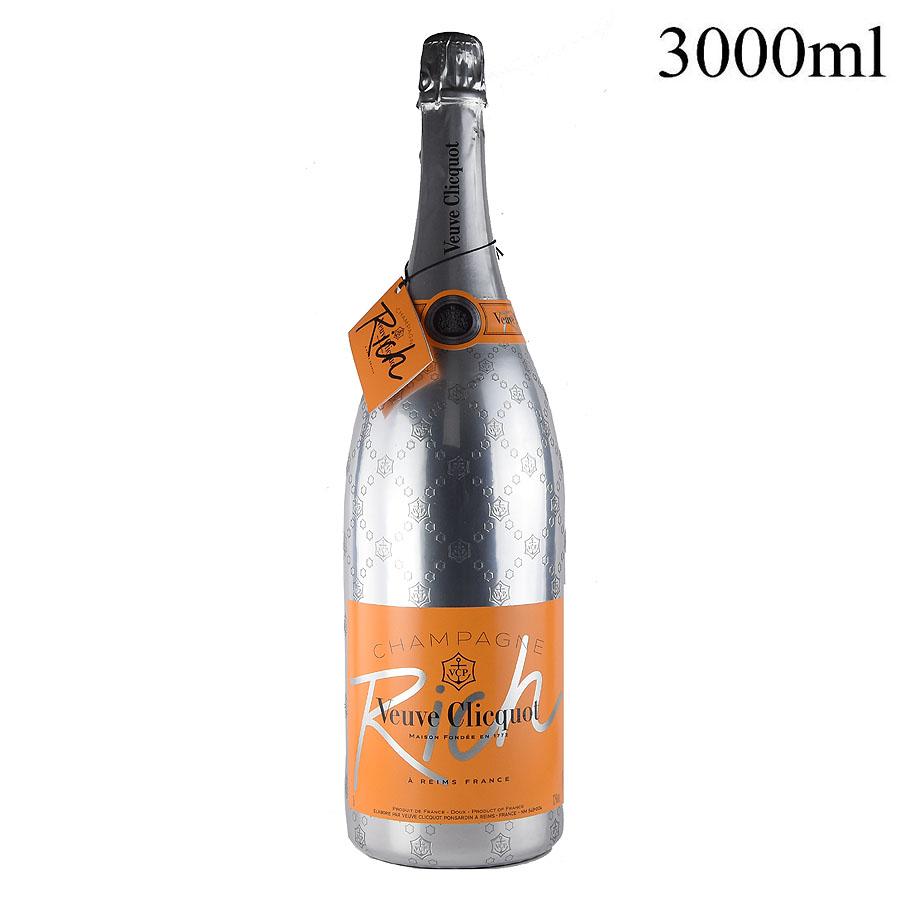 NV ヴーヴ・クリコ リッチ ジェロボアム 3000mlフランス / シャンパーニュ / 発泡・シャンパン[のこり1本]