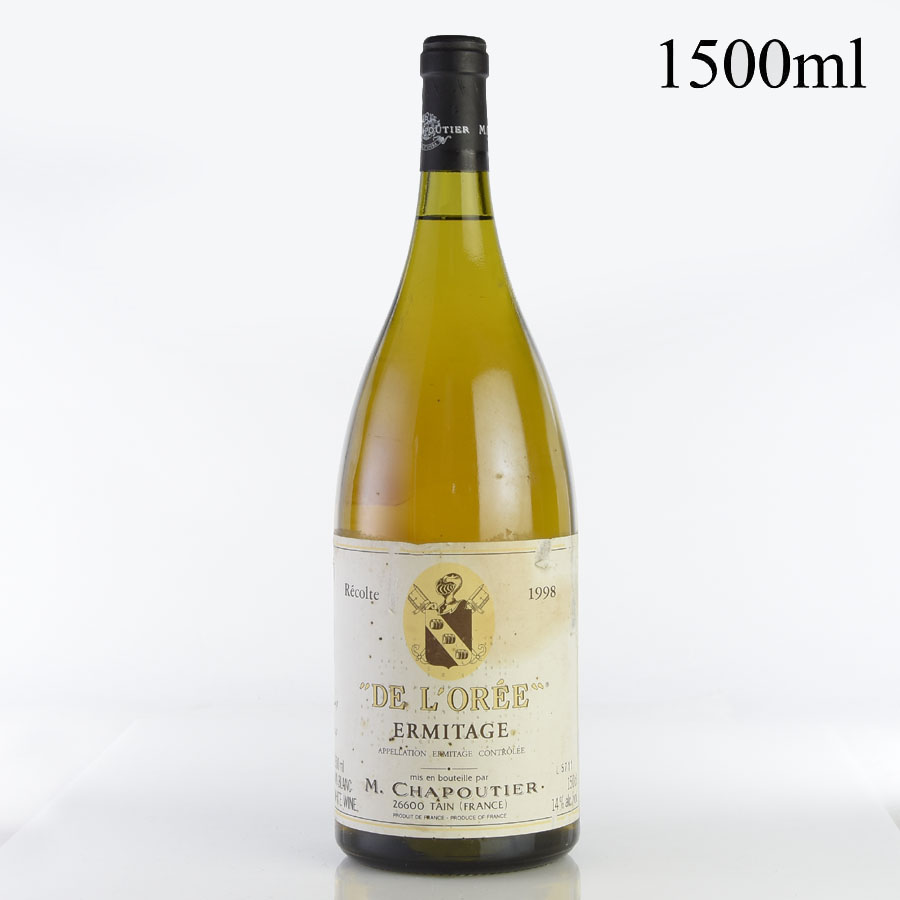 [1998] シャプティエ エルミタージュ ブラン・ド・ロレ マグナム 1500ml ※ラベル汚れ・破れあり