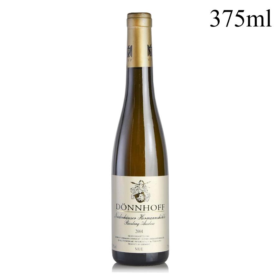パーカーポイント95点 2004 デンホフ ニーダーホイザー 送料無料新品 ヘルマンスヘーレ リースリング 受注生産品 ハーフ アウスレーゼ ゴールドカプセル 白ワイン #17 375mlドイツ