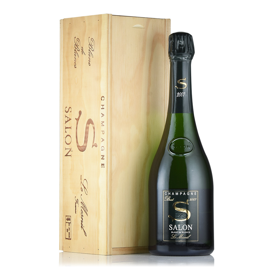 【新入荷★特別価格】[2007] サロンブラン・ド・ブラン 【木箱入り】フランス / シャンパーニュ / 発泡系・シャンパン