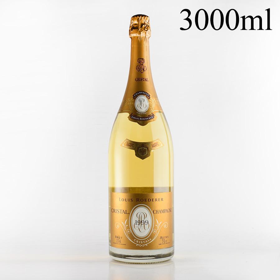 【新入荷★特別価格】[1999] ルイ・ロデレールクリスタル ジェロボアム 3000mlフランス / シャンパーニュ / 発泡系・シャンパン[のこり1本]
