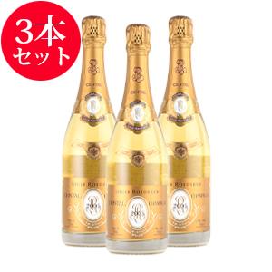 【送料無料】[2006] ルイ・ロデレールクリスタル 【ギフトボックス】 3本セットフランス / シャンパーニュ / 発泡系・シャンパン
