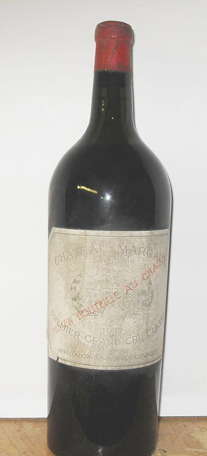 【日本製】 シャトー マルゴー 1947 マグナム 1500ml 海外取り寄せ2週間~1ヵ月 フランス ボルドー 赤ワイン, 快適いぬ生活 f7c59f1c