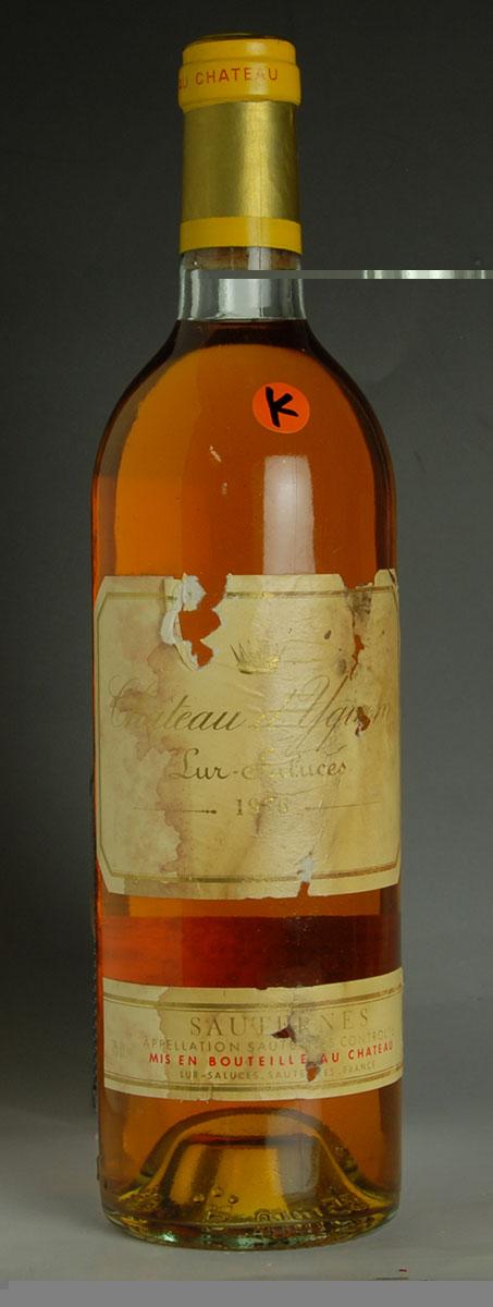 [1976] シャトー・ディケム【イケム】 【K】【ラベル汚れ】 Chateau d'Yquem