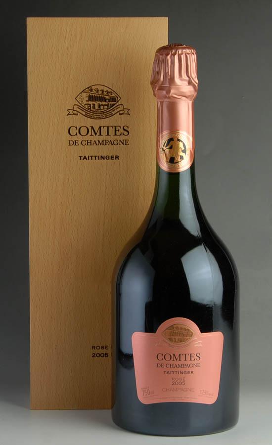 [2005] テタンジェ・コント・ド・シャンパーニュ ロゼ オリジナルギフト箱【正規品】1本 Taittinger Comtes de Champagne Rose 750ml