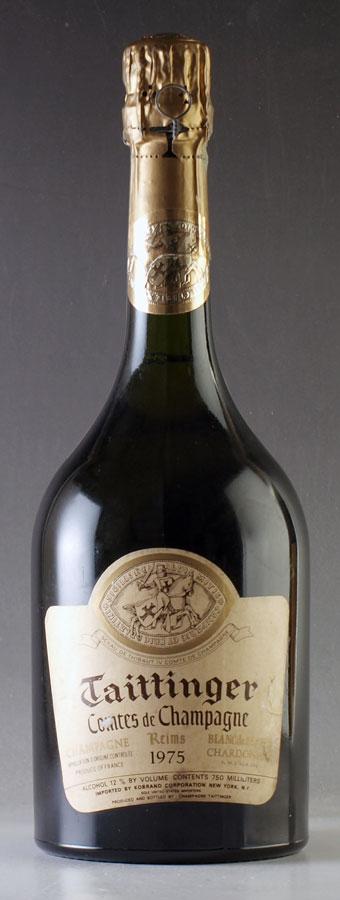 [1975] テタンジェ・コント・ド・シャンパーニュ ブラン・ド・ブランTaittinger Comtes de Champagne Blanc de Blancs 750mlフランス / シャンパーニュ / 発泡・シャンパン