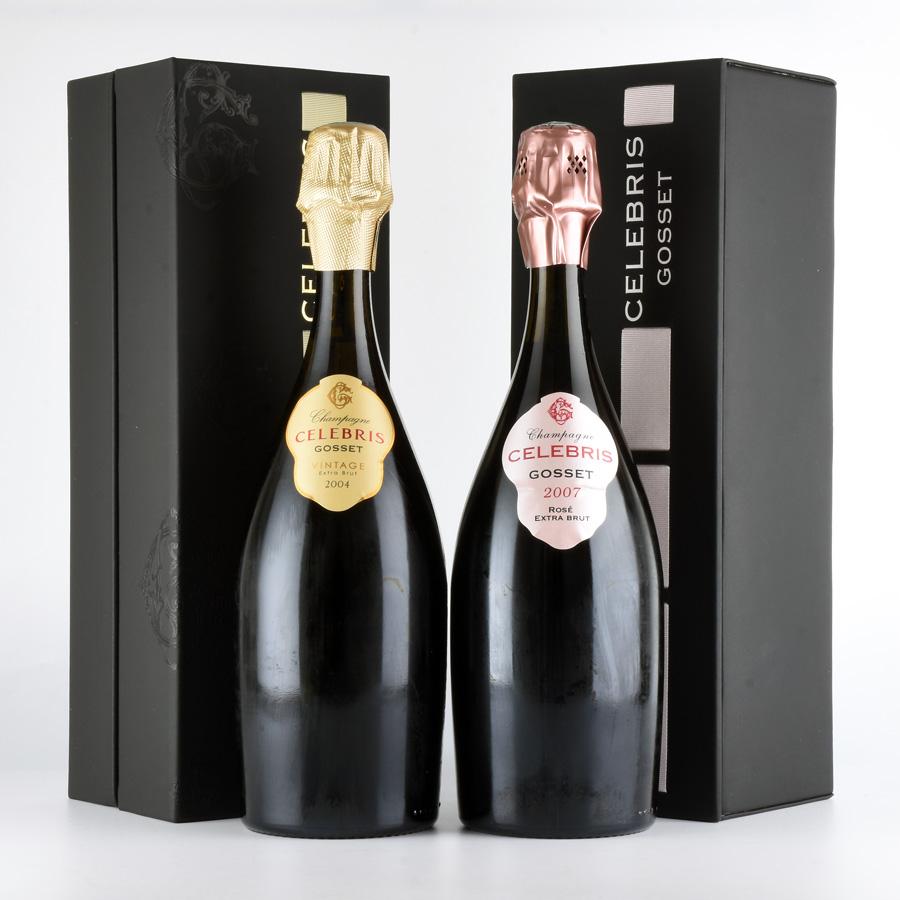 【10月特別特価】ゴッセ セレブリス ブリュット、ロゼ 2本セットフランス / シャンパーニュ / 発泡・シャンパン