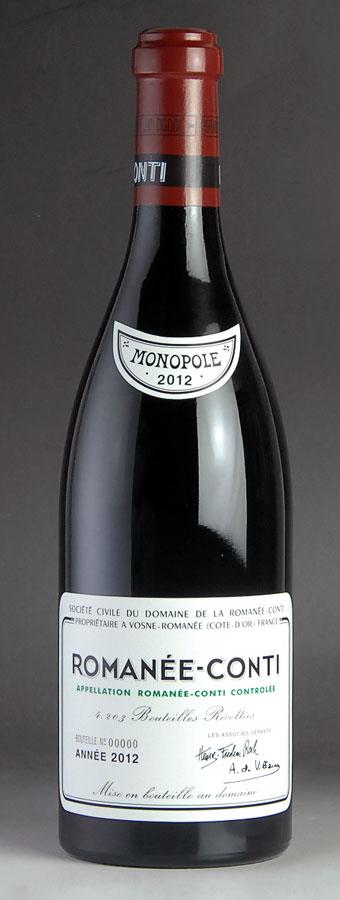 [2012] ロマネコンティRomanee Contiドメーヌ・ド・ラ・ロマネ・コンティ DRC