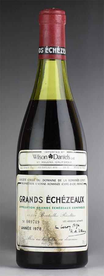 [1978] ドメーヌ・ド・ラ・ロマネ・コンティ DRC グラン・エシェゾー ※ラベル汚れ、液漏れフランス / ブルゴーニュ / 赤ワイン
