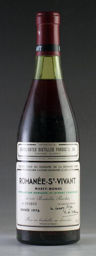 [1976] ロマネ・サン・ヴィヴァンRomanee St Vivantドメーヌ・ド・ラ・ロマネ・コンティ DRCフランス / ブルゴーニュ / 赤ワイン