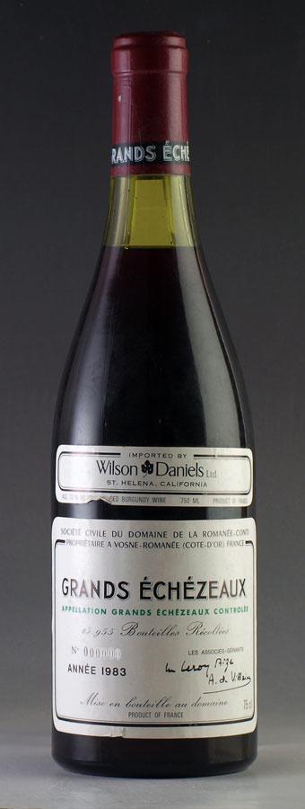【送料無料】 [1983] グラン・エシェゾー 【B】 Grands Echezeaux ドメーヌ・ド・ラ・ロマネ・コンティ DRCフランス / ブルゴーニュ / 赤ワイン