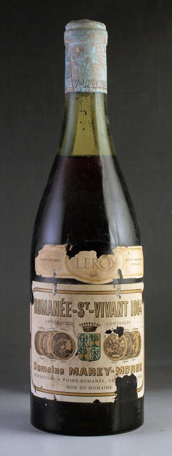 [1964] ロマネ・サン・ヴィヴァンRomanee St Vivantドメーヌ・ド・ラ・ロマネコンティ DRC※ラベル不良ありフランス / ブルゴーニュ / 赤ワイン[outlet][のこり1本]