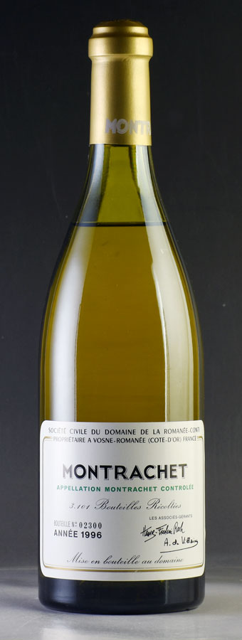 [1996] モンラッシェMontrachetドメーヌ・ド・ラ・ロマネ・コンティ DRC ※キャップシール破れ、液面キャップシールから4.5cmフランス / ブルゴーニュ / 白ワイン