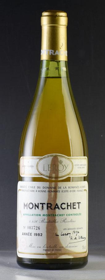 [1982] モンラッシェMontrachetドメーヌ・ド・ラ・ロマネ・コンティ DRC※ラベル汚れフランス / ブルゴーニュ / 白ワイン