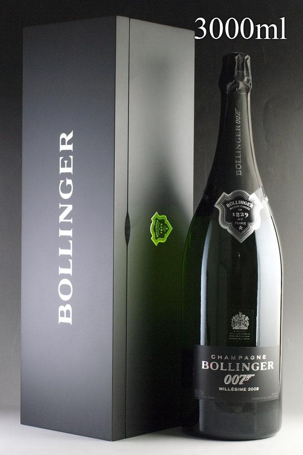 [2009] ボランジェ 007 スペクター リミテッド・エディション ジェロボアム 3000ml 【自社輸入】【オリジナル木箱入り】 Bollinger SPECTRE Limited Editionフランス / シャンパーニュ / 発泡・シャンパン