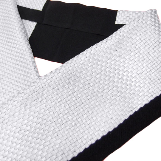 半衿 手刺繍 正絹 塩瀬 振袖 日本製 市松 成人式 結婚式 長尺 フォーマル 美品 T7 k900r