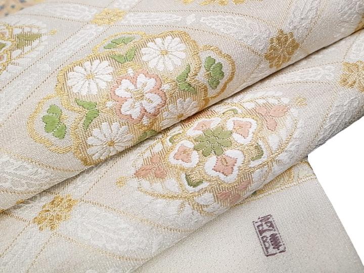 袋帯 美しいキモノ掲載 吉祥文様つづれ袋帯 仕立て上がり 正絹 新品b417r