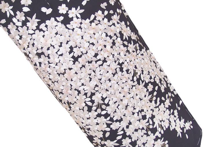 【スーパーSale 20%off】訪問着 未仕立て 正絹 豪華 手刺繍 桜 フォーマル 結婚式 入学式 卒業式 入園式 卒園式 紫 rm b18 d123