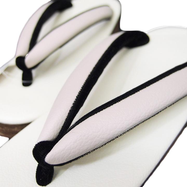 草履 菱屋 カレンブロッソ 日本製 カフェ草履 カジュアル 美品 桜色 オフホワイト 黒 Mサイズ 23.5cm Lサイズ 24.5cm b926r