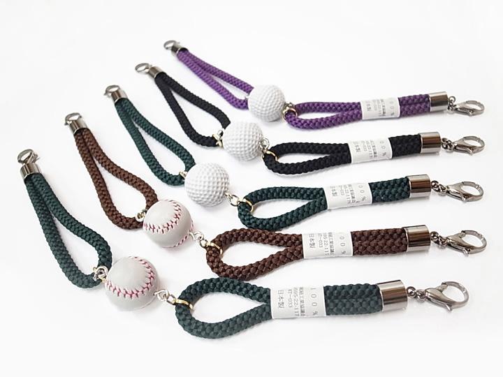 羽織紐 男性 緑 茶 黒 紫 メンズ 野球ボール ゴルフボール 日本製 カジュアル 全5種類 24800791 b855r