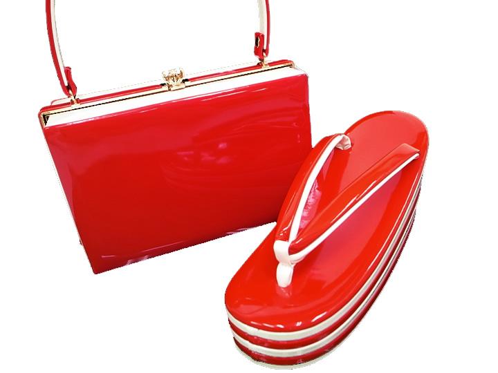 振袖 草履 バッグ セット エナメル 成人式 新品 美品 華やかなルージュ 白 フリーサイズ No1 j758 Wsi