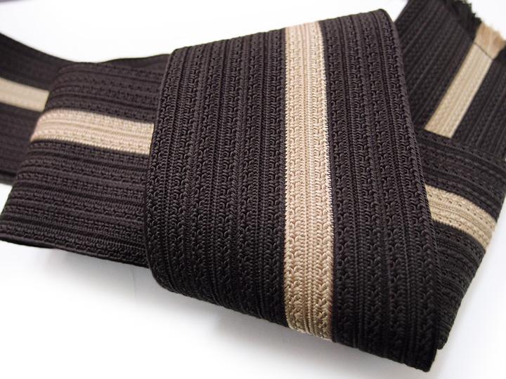 【スーパーSale 10%off】角帯 高級 京組紐 日本製 正絹 男性角帯 こげ茶 d578r