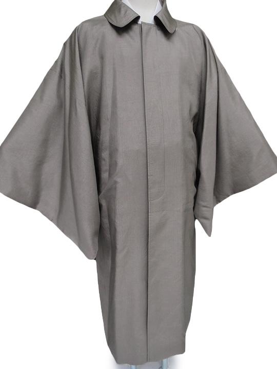 男性 角袖コートト メンズ 和装コート 撥水加工済み 日本製 グレー Lサイズ NO3844 d082r