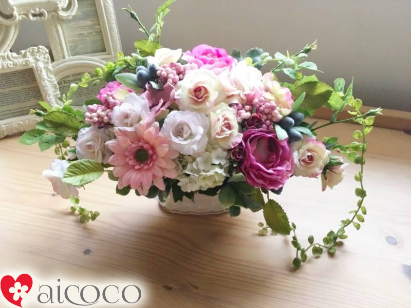 Romanrose rakuten global market mothers day present floral art the flower which does not die in a present of the mothers day the arrangement flower which i fully used the silk flower clean artificial flower for negle Gallery
