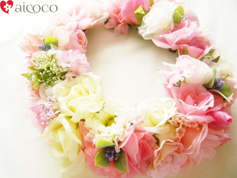 【ヘッドドレス】花冠 ピンクふんわり花かんむりウエディング ウェディング オレンジ 赤 ブルー 結婚 式 ブレスレット グリーン ヘアアクセサリー 花 結婚式 アイテム フラワー パーティ 大人 ヘアアクセ 造花 フェス