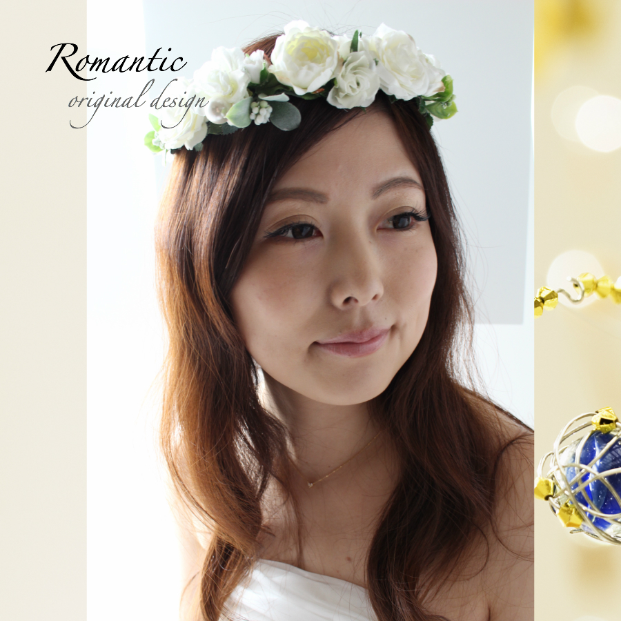 Romanrose rakuten global market corolla luxury artificial corolla luxury artificial beauties beautiful corolla flower girl corolla adult headband choker silk flower dress corolla bridal crown wedding corolla izmirmasajfo Choice Image