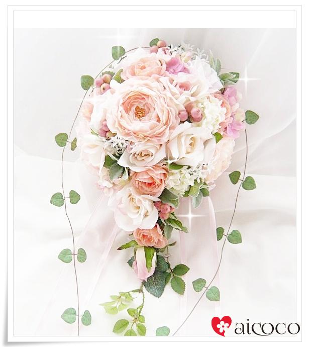 ピーチブーケ6点セット ブーケ/ウエディングブーケ/ブーケ/ウエディングブーケ+新郎ブートニア セット。可愛いブーケ 誕生日 プレゼント 女性 花束 ウェディングブーケ ホワイト ピンク 結婚式 花かんむり 花冠 造花ブーケ プレゼント 贈り物 誕生日