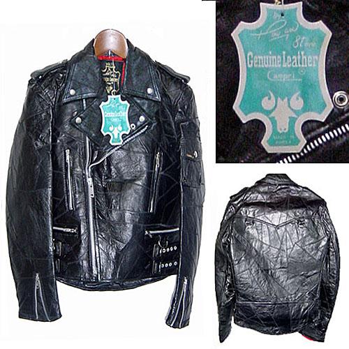 CAMPRI 沃尔特老式拼凑复杂 tsugihaggijan 地壳皮革夹克骑手