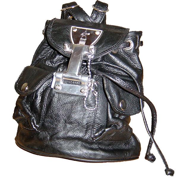 Hi Tek Designs London Alexander Leather Bag CYBER ハイテック レザーバッグ ミニ リュックサック サイバー パンク【中古】【ロマンチックノイローゼ 市場店】