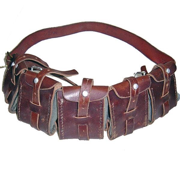 VINTAGE Swedish Bandolier Leather Ammo Pouch スウェーデン軍 バンドリア【中古】【ロマンチックノイローゼ 市場店】