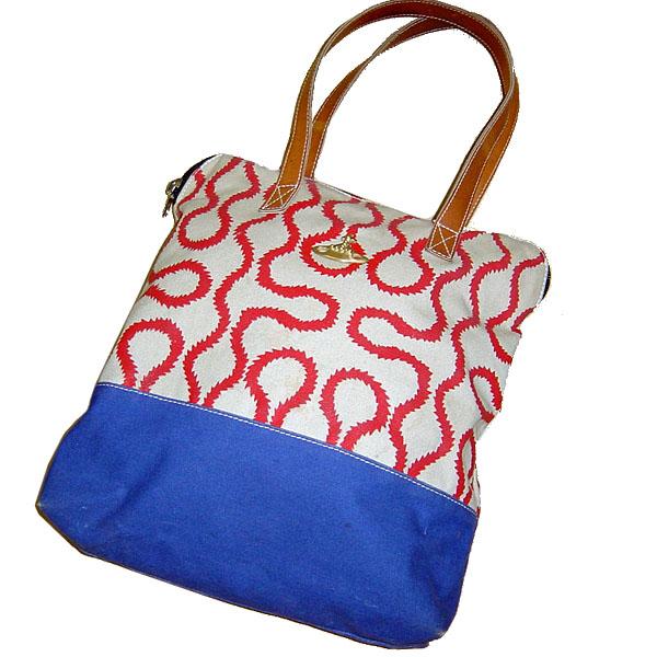 Vivienne Westwood Anglomania Squiggle Africa Bag ヴィヴィアン ウエストウッド アングロマニア スクイグル アフリカ バッグ トート【中古】【ロマンチックノイローゼ 市場店】