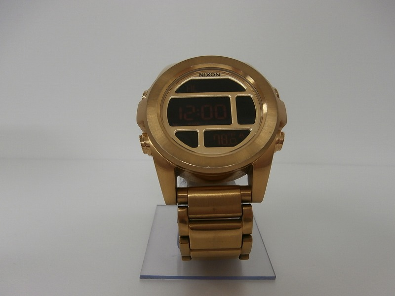 【中古】NIXON  UNIT SS ALL GOLD