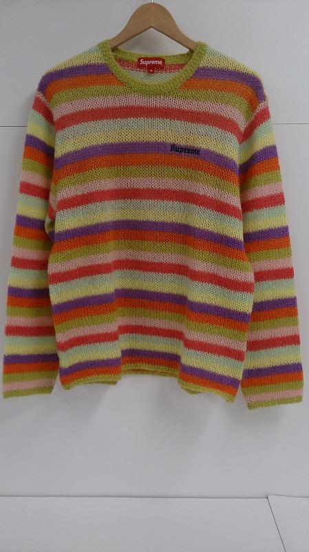 【中古】Supreme 19AW Stripe Mohair Sweater シュプリーム モヘア ストライプ ボーダー ニット セーター 2019AW サイズM メンズ